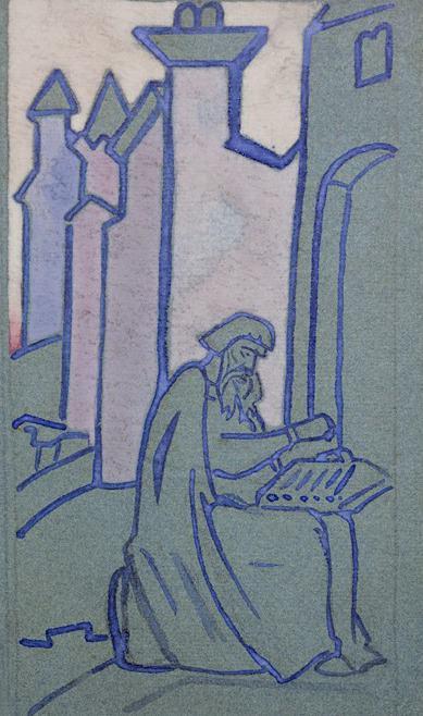 Bayan (Sketch of a panel). Roerich N.K. (Part 1)