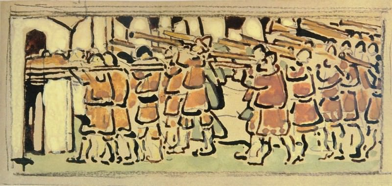 To attack (Outline of the composition). Roerich N.K. (Part 1)