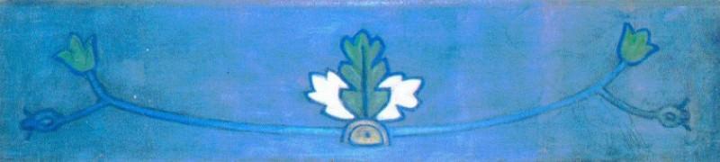 Plant motifs (panel). Roerich N.K. (Part 1)