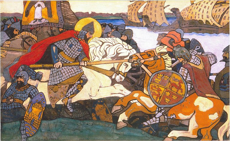 Alexander Nevsky strikes Jarl of Birger. Roerich N.K. (Part 1)