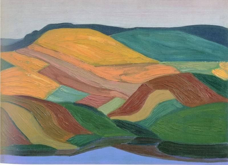 Hilly landscape. Roerich N.K. (Part 1)