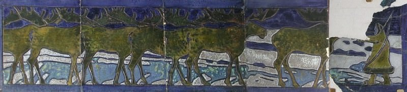 """Deer. Detail """"Northern frieze"""". Roerich N.K. (Part 1)"""