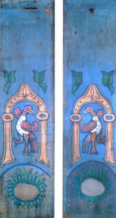 Plant motifs with birds (six panels) ( 1-2). Roerich N.K. (Part 1)