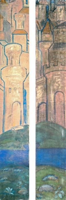 Architectural motif (Two panels). Roerich N.K. (Part 1)