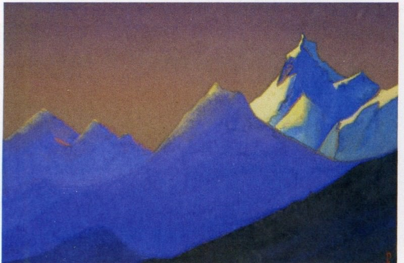 # 67 Himalaya mountains chain purple. Roerich N.K. (Part 6)