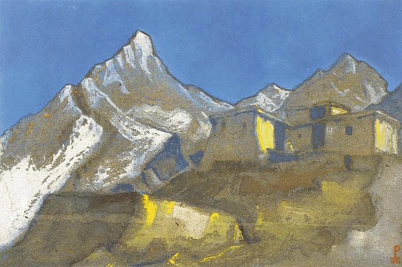 Лахуль #13 Гималайский пейзаж (Лахул). Рерих Н.К. (Часть 6)