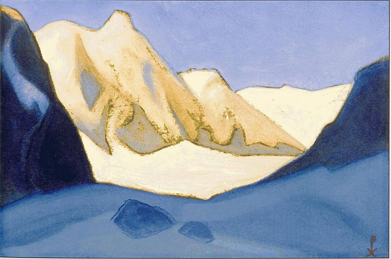 Himalayas # 53 Miracle of pink snows. Roerich N.K. (Part 6)