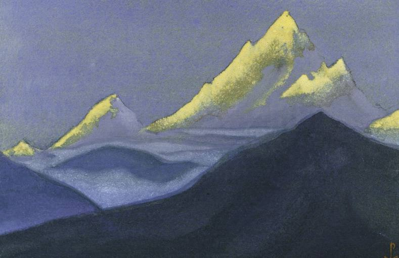 The Himalayas # 133 The dying apexes. Roerich N.K. (Part 6)