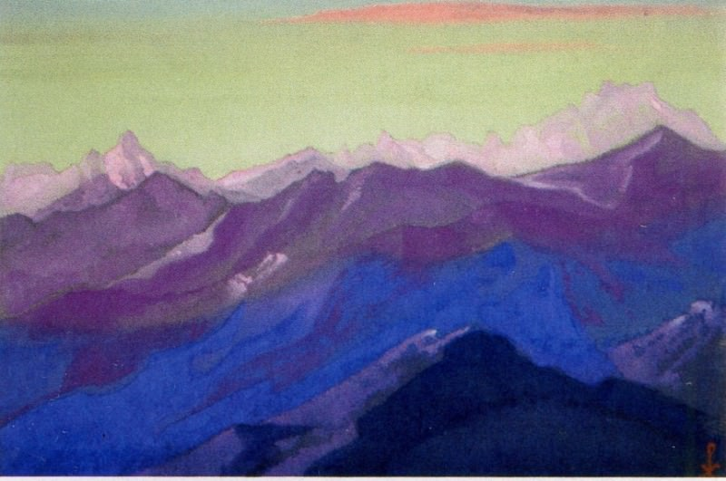 The Himalayas # 149 Mountain Ranges. Roerich N.K. (Part 6)