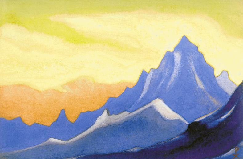Himalayas # 30 Sonata of aboveground paints. Roerich N.K. (Part 6)