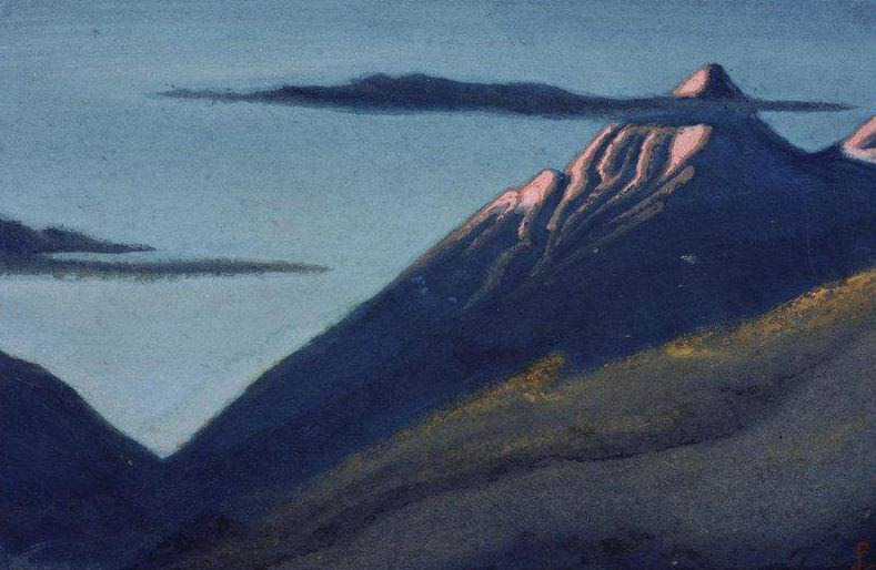 The Himalayas # 154 The Glacier. Roerich N.K. (Part 6)
