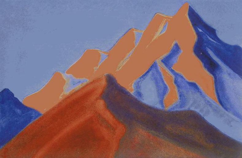 Sunset # 141 sunset (Burning vertex). Roerich N.K. (Part 6)