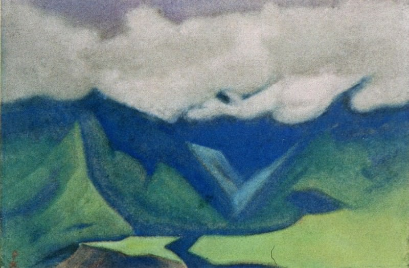 The Himalayas # 123 Spurs of the rocks and the valley. Roerich N.K. (Part 6)