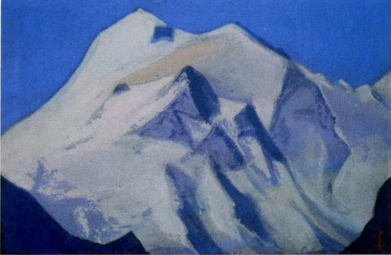 Himalayas # 90 Apex at sunrise. Roerich N.K. (Part 6)