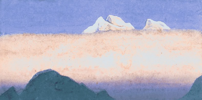 The Himalayas # 173 Morning Mists. Roerich N.K. (Part 6)
