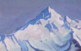 Himalayas # 84 Blue haze mountain distances. Roerich N.K. (Part 6)