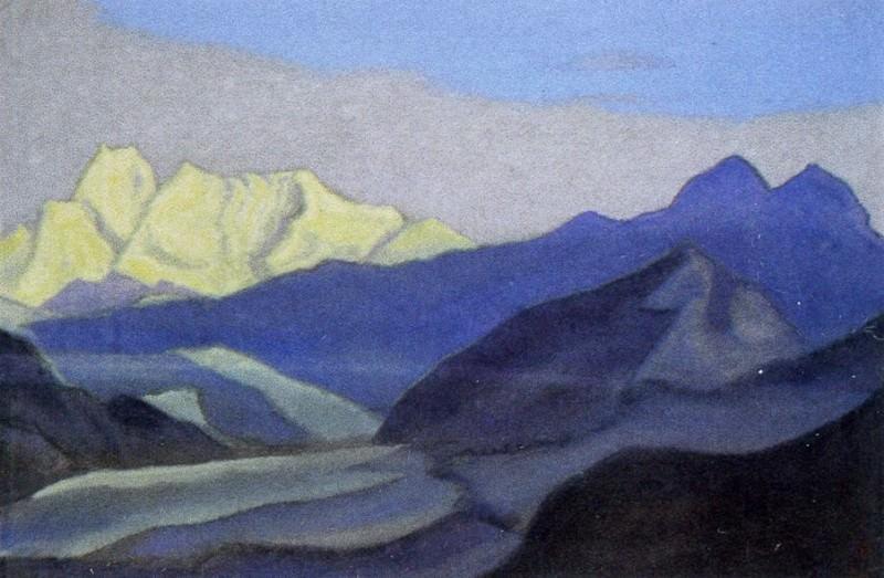 Гималаи #41 Вершины гор и ледник. Рерих Н.К. (Часть 6)
