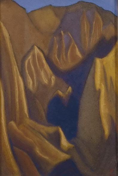 Желтые скалы #57 (Откосы скал). Рерих Н.К. (Часть 6)