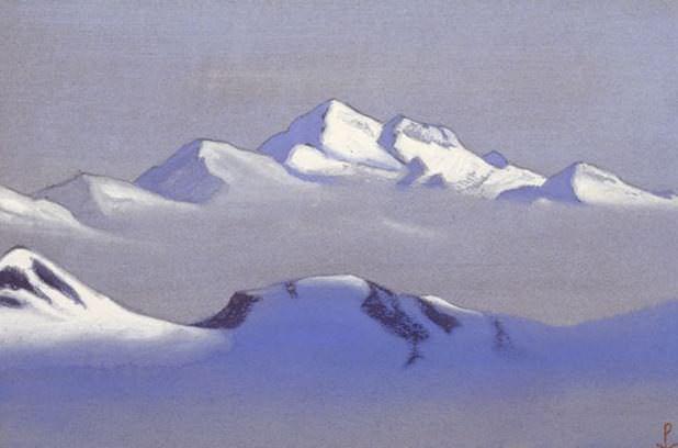 94 # Kanchenjunga Kanchenjunga (parallel chain). Roerich N.K. (Part 6)