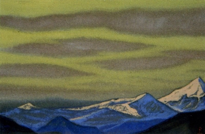 Himalayas # 52 Gloomy sky above the tops. Roerich N.K. (Part 6)