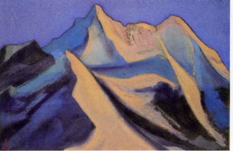 Nanda Davy # 2 (Snow peak in blue shades). Roerich N.K. (Part 6)