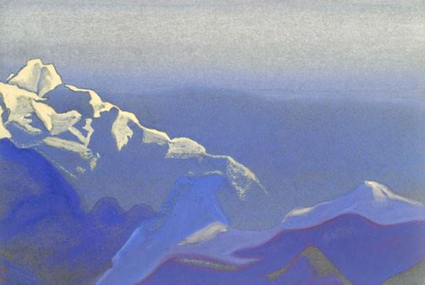 Himalayas # 81 Evening snow. Roerich N.K. (Part 6)