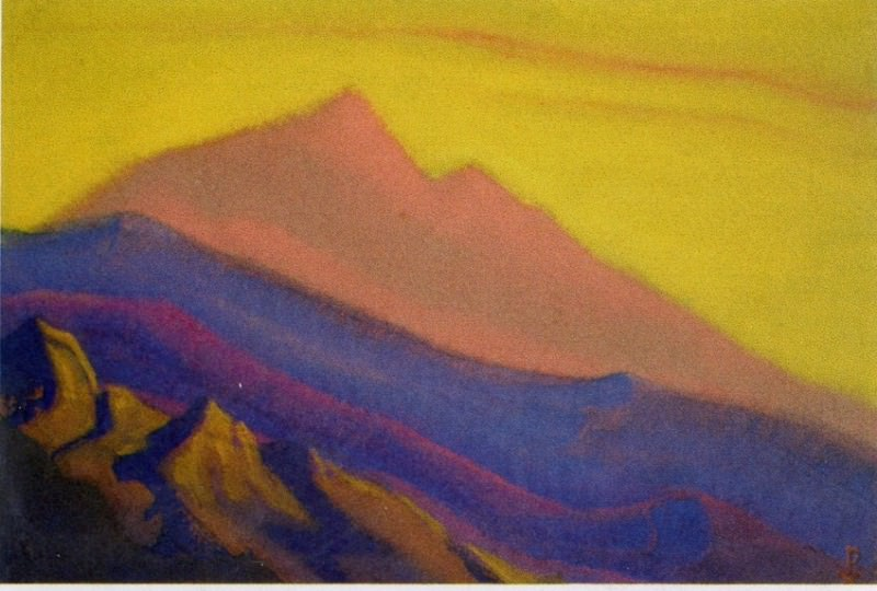 Himalayas # 122 Mountains at sunset. Roerich N.K. (Part 6)
