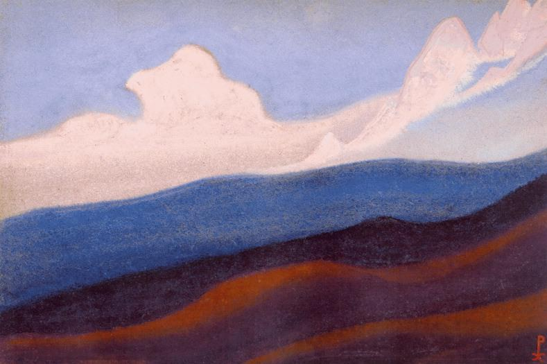 The Himalayas # 59 Over the fallen ridge. Roerich N.K. (Part 6)