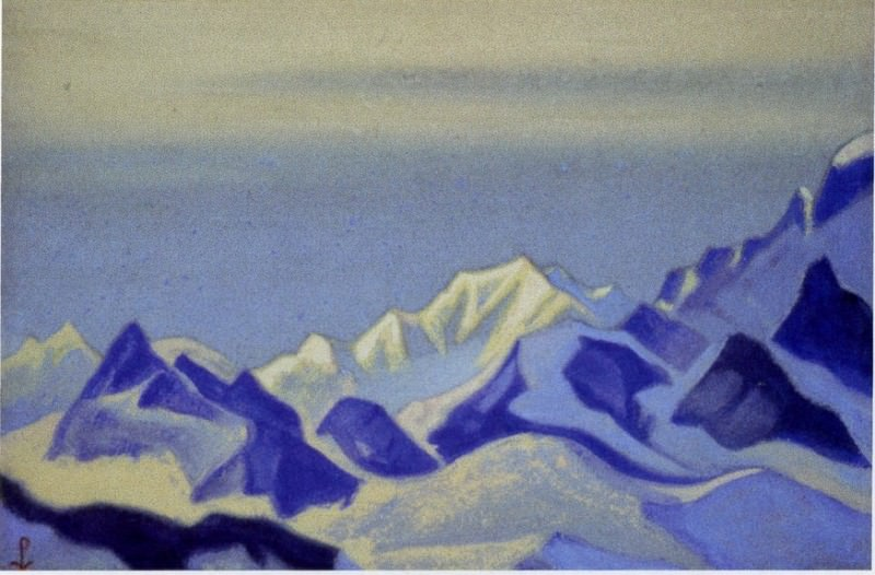 Kanchenjunga # 30 Blue snow at dusk. Roerich N.K. (Part 6)