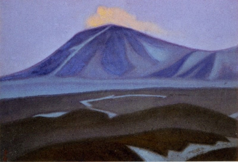 Chantung # 45 (Himalayas. mountain peaks). Roerich N.K. (Part 6)