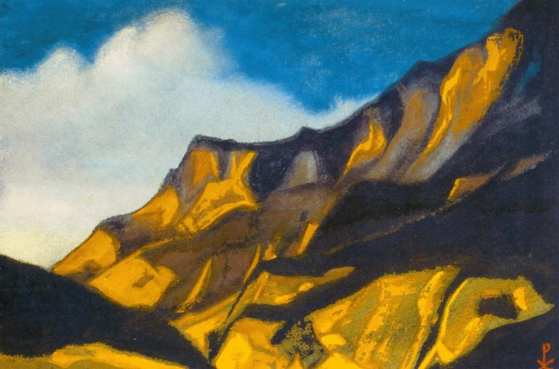 Kuluta # 141 Kuluta (Yellow-purple mountains). Roerich N.K. (Part 6)
