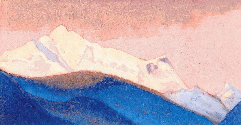 The Himalayas # 142 The Pink Sky. Roerich N.K. (Part 6)