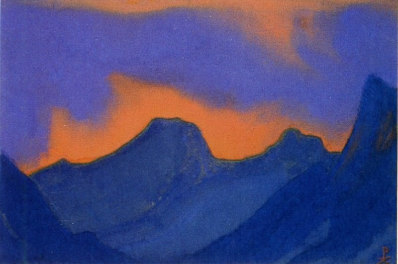 Blazing sunset # 20. Roerich N.K. (Part 6)