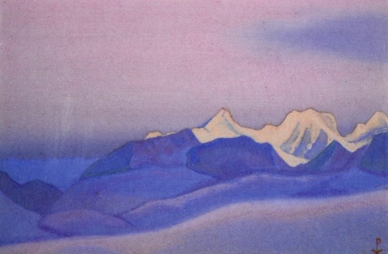 # 99 Himalaya mountain range at dawn. Roerich N.K. (Part 6)