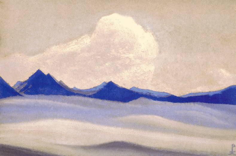 The Himalayas # 20 The evening falls on the glacier. Roerich N.K. (Part 6)