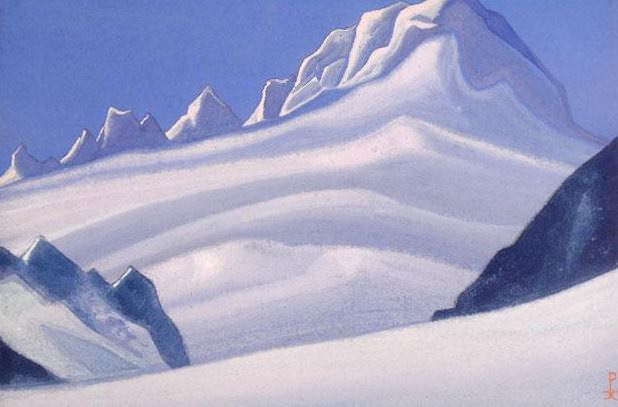 The Himalayas # 159 Snowy benches. Roerich N.K. (Part 6)