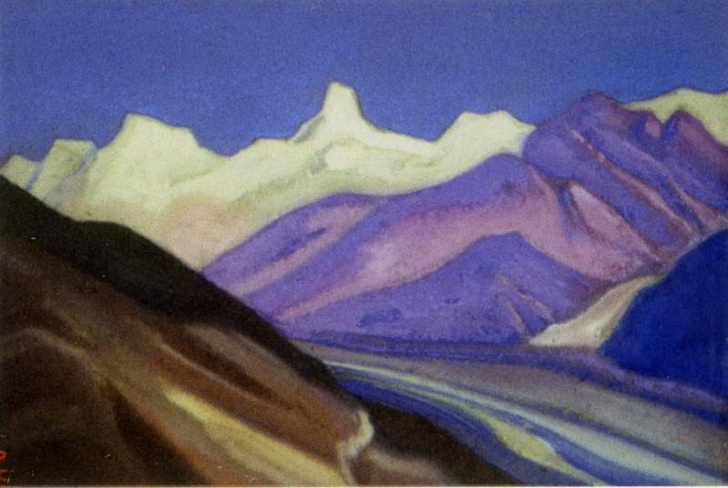 Himalayas # 51 Mountain spurs. Roerich N.K. (Part 6)