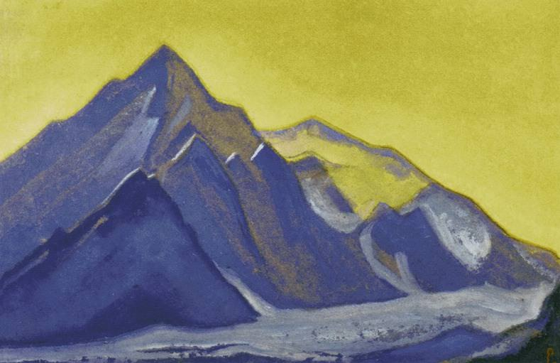 The Himalayas # 154 The Green Peaks. Roerich N.K. (Part 6)