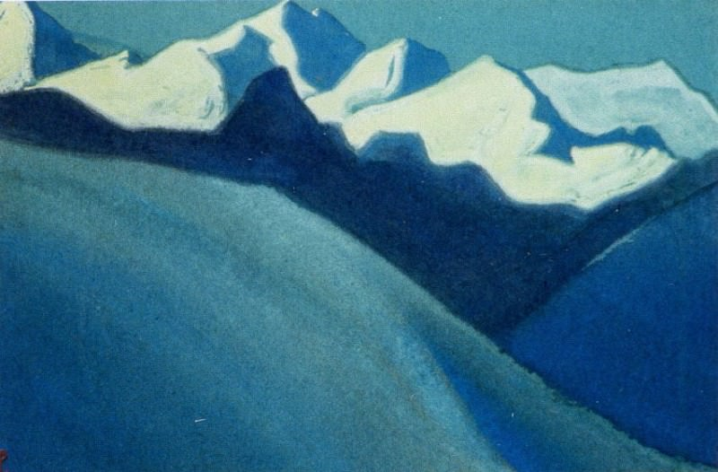 Himalayas # 142 Mountains in the moonlight. Roerich N.K. (Part 6)