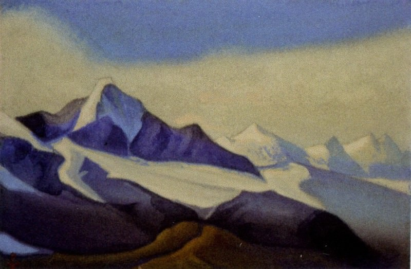 The Himalayas # 39 of the Himalayas. Mountain country. Roerich N.K. (Part 6)