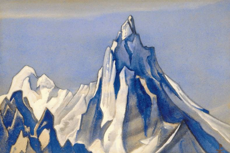 The Himalayas # 146 Aspiration to the sky. Roerich N.K. (Part 6)