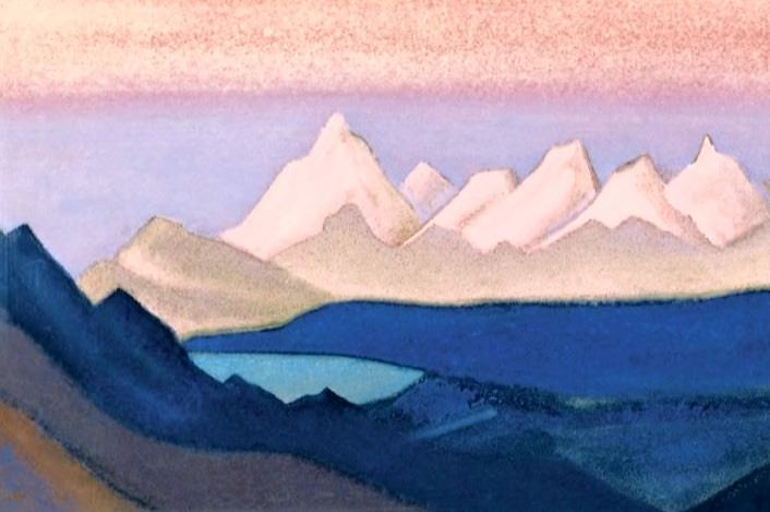 Thang # 182 Thang ( Burning sunset). Roerich N.K. (Part 6)