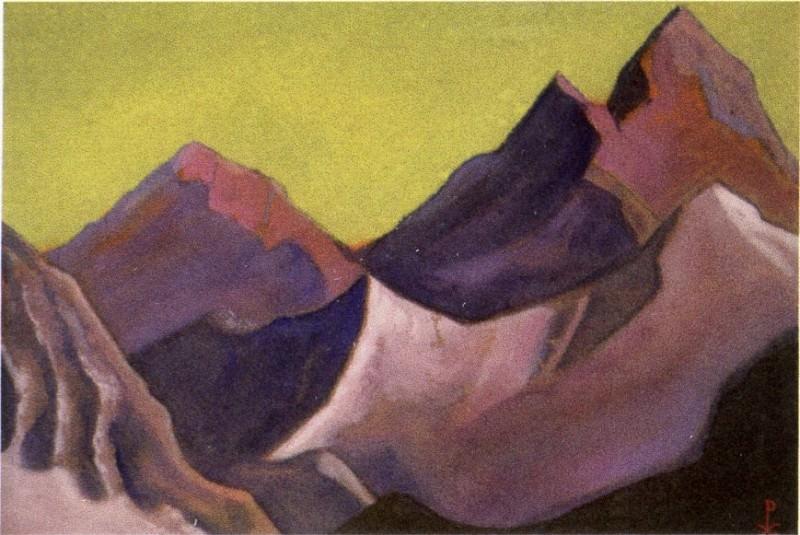 The Himalayas # 157 The Purple Rocks. Roerich N.K. (Part 6)
