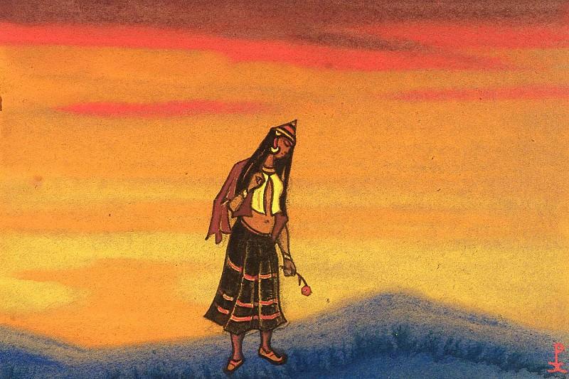 Captive # 89 Polonyanka (rose). Roerich N.K. (Part 6)