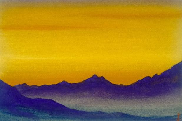 Tibet # 103 Tibet (evening light). Roerich N.K. (Part 6)