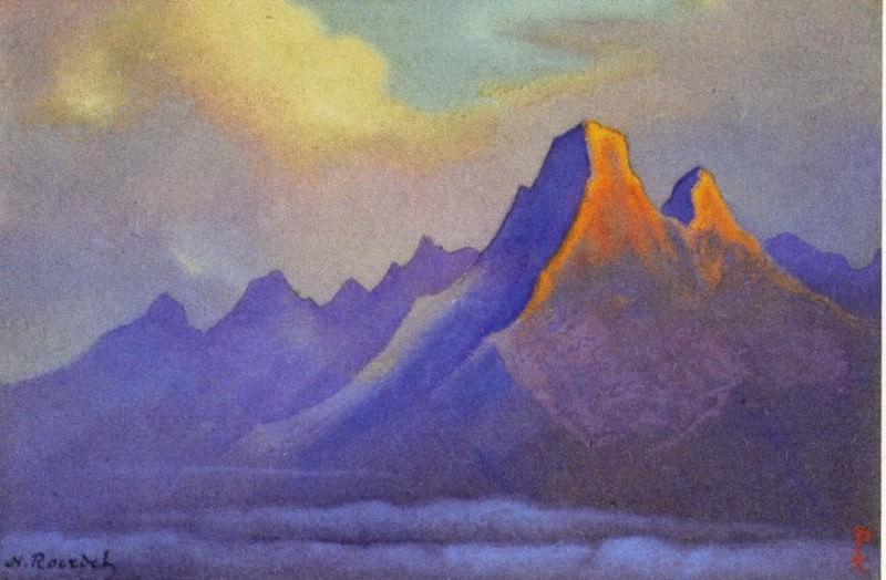 Nanda Devi # 176 (Two burning rock). Roerich N.K. (Part 6)