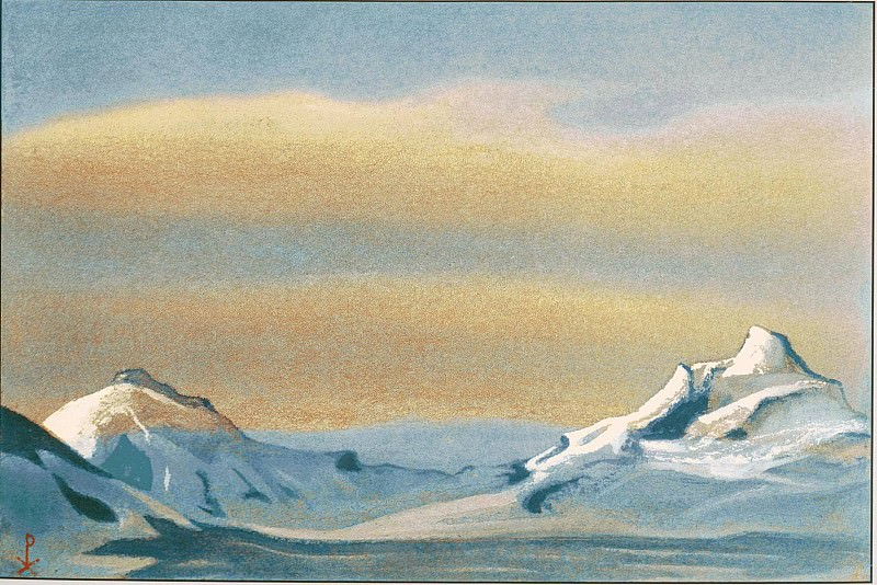 Himalayas # 80 Ray of the sun in the clouds. Roerich N.K. (Part 6)