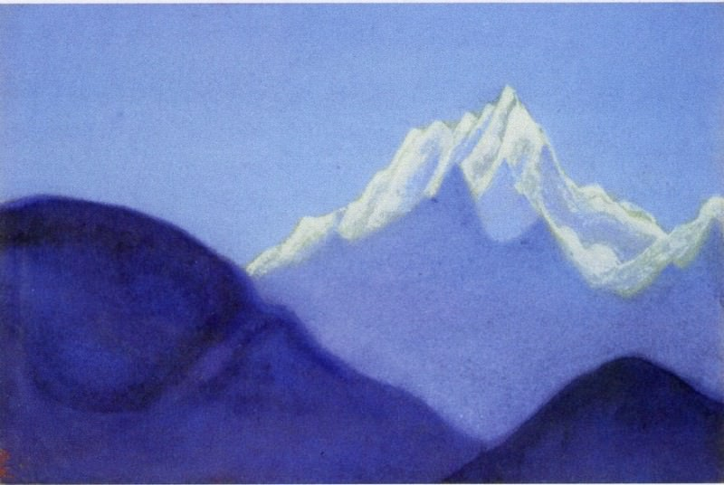 Himalayas # 57 illuminated snowy peak. Roerich N.K. (Part 6)