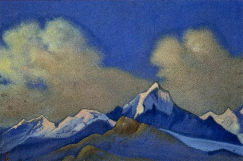 Гималаи #1 Рассвет в горах. Облака. Рерих Н.К. (Часть 6)