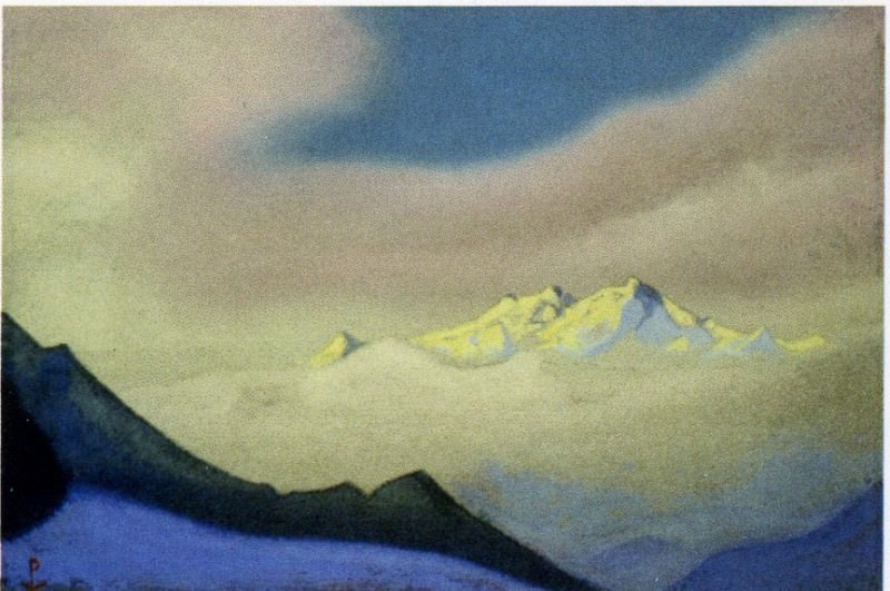 Himalayas # 28 Clouds at sunset. Roerich N.K. (Part 6)